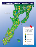 Fishermans Point Campsite Map